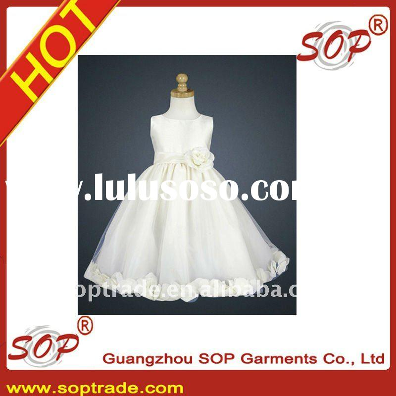 Hot sale! organza flower girl dresses for weddings