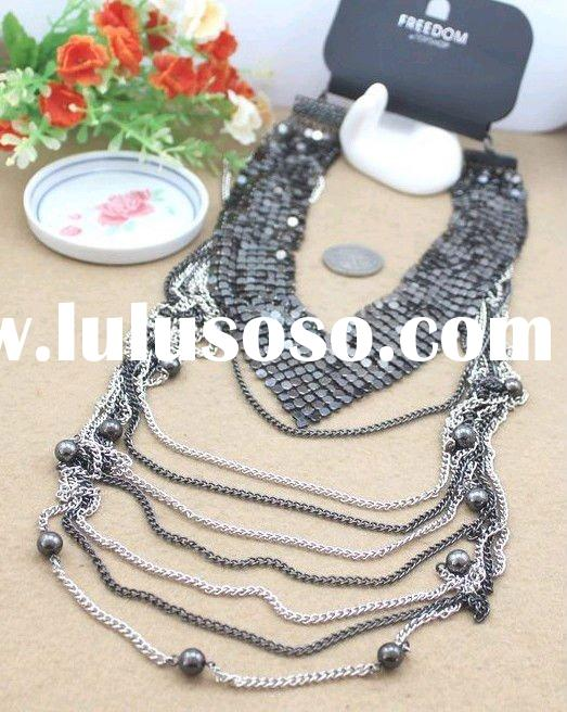 Newest Jewelry-Best selling costume long chain  necklace