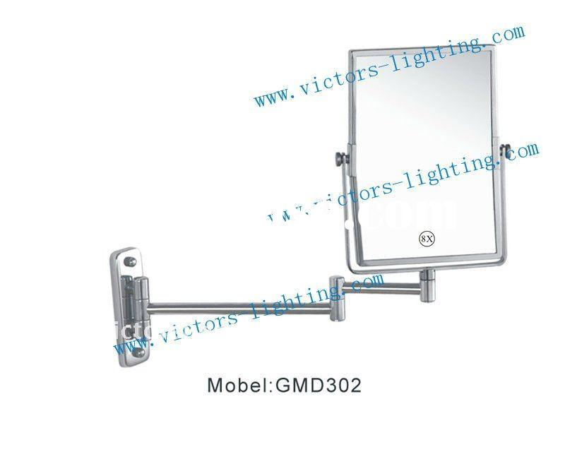 Wall mounted magnifying cosmetic mirror GMD302