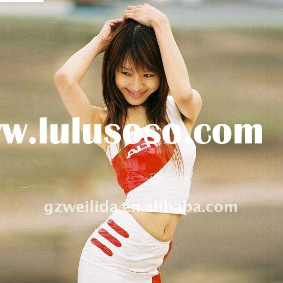 car promotional suits ( tshirt and skirt)