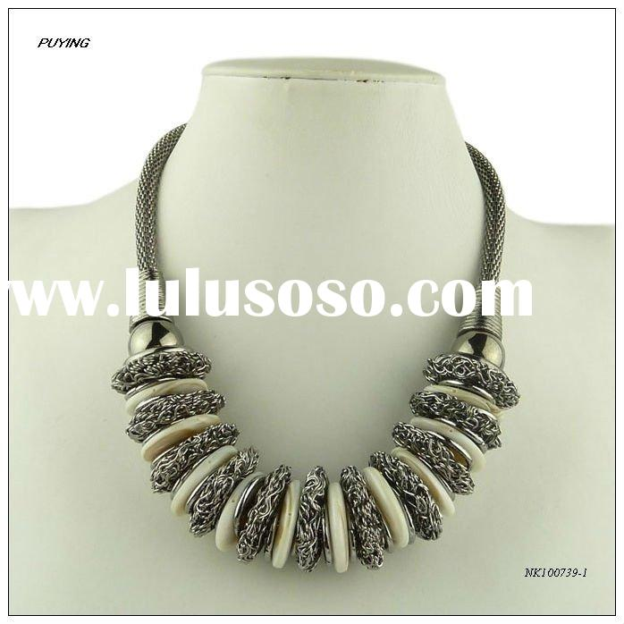 2012 New Arrival Fashion Zinc Alloy Lady Costume Necklace, Fine Alloy Jewellery