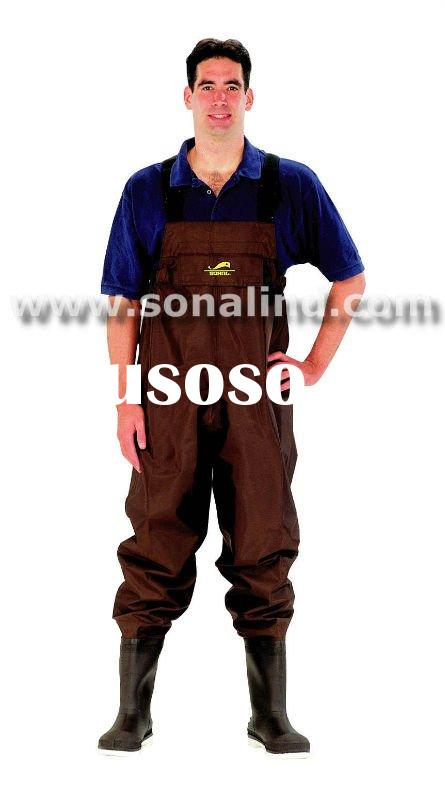 420D Nylon/PVC Chest Wader with PVC bootfooted