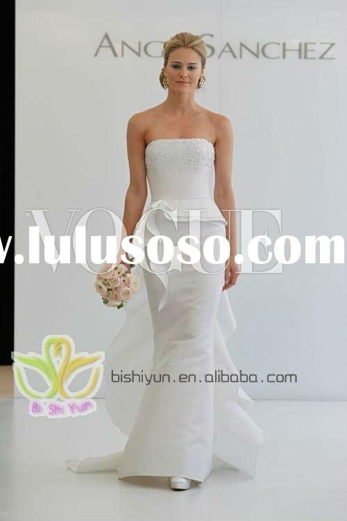 HOT !! most beautiful Lace  fishplate wedding dresses
