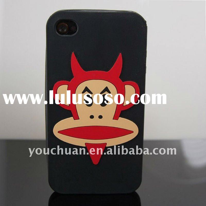 custom Monkey silicone phone case for Iphone 4