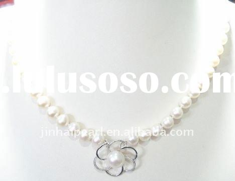 fashion round freshwater pearl necklace