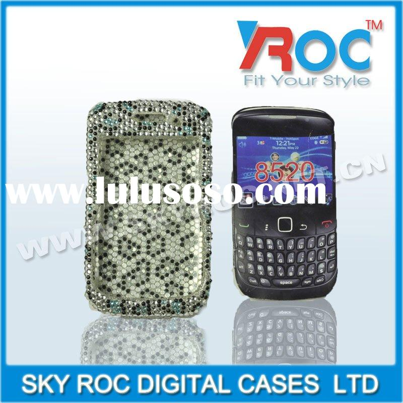 Excellent rhinestone cell phone cover for 8520 case