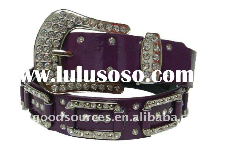 Fashion western square stone leather belts
