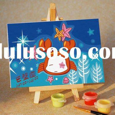 New design diy oil canvas painting by numbers