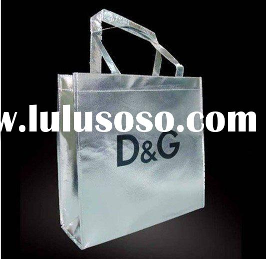 fashion brand foldable shopping bag with laser lamination