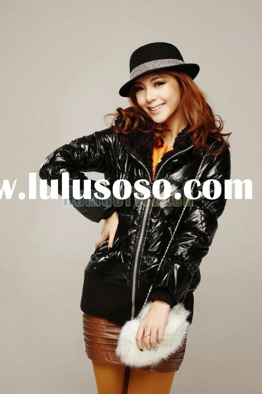 2011 Factory Price!! Viwill Black Lady Fashion Coat Waterproof Jacket Outerwear in Stock!