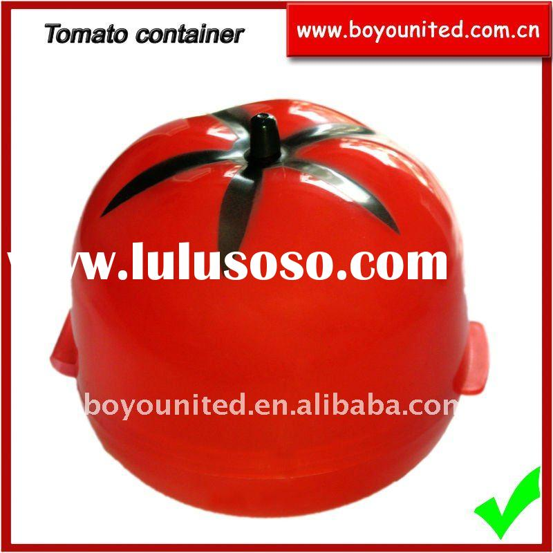 Plastic fresh container in tomato shape