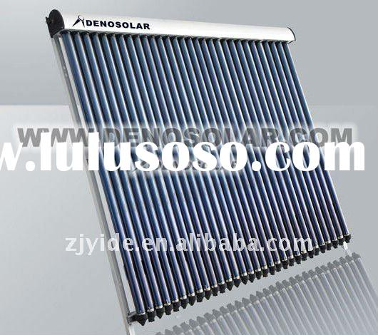 Swimming pool use solar collector with heat pipe