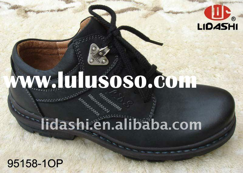 Wide Last Real Leather Shoes from China Rubber Sole