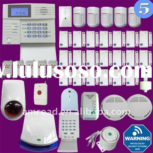 38 Zones PSTN and GSM Dual Network Wireless Home Security Alarm System w PC Setup and SMS Alert Feat