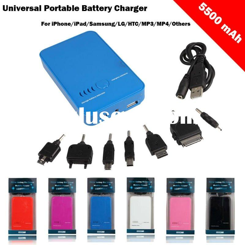5500mAh Universal Portable Battery Charger For iPhone/iPad/Samsung/LG/HTC/MP3/MP4/Others