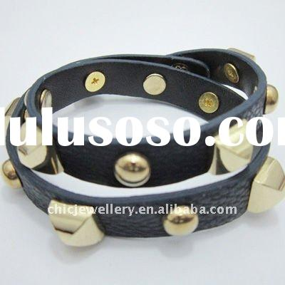 Colorful leather bracelet fashion sale in 2011