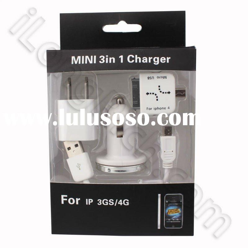 Mini 3 in 1 Charger For iPhone 3GS/4 (US Plug)