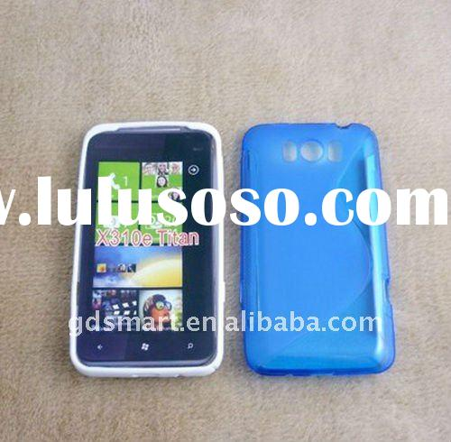 TPU Gel Blue Case For HTC Titan X310e With S Line Cover