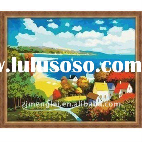 factory direct sale--high quality 30*40cm diy digital oil painting by numbers with CE-Mickey & h