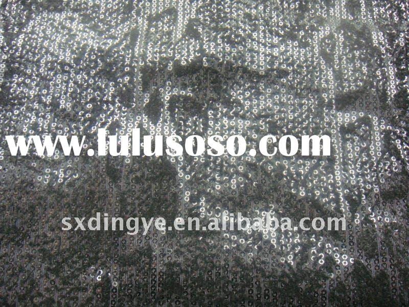 sequin flower embroidery fabric