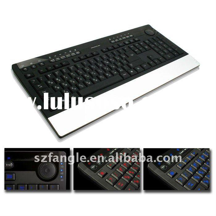 wired USB slim lighting classic desktop keyboard with armrest
