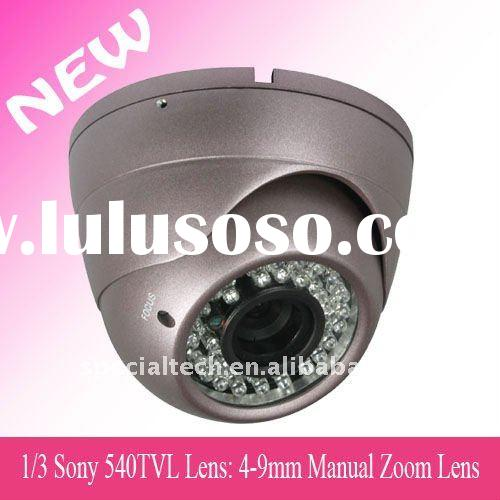 1/3  Sony 540TVL Vandalproof IR Dome Camera 4-9mm lens