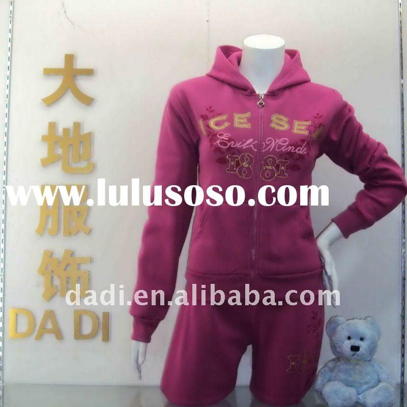 2011,hot sell Products,fashion style top quality  ladies track suit apparel