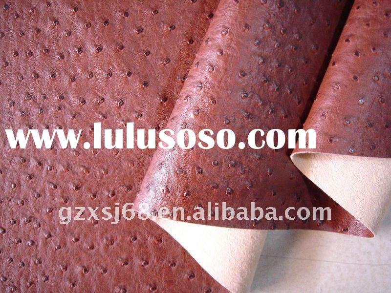 A1872 PU Matte Ostrich Leather with Cottony Background