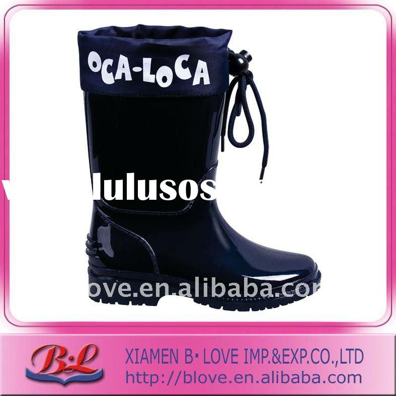 Fashion Children Solid Color PVC Rain Boots