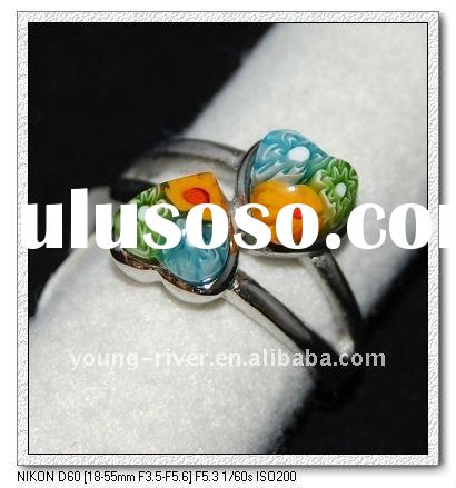 fashion stainless steel jewelry murano ring