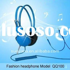 spring cable computer stereo headphone headset with mic