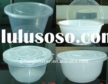 wholesale PP plastic noodle bowl,salad bowl,fruit bowl with lid