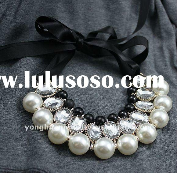 best selling big pearl fashion alloy necklace