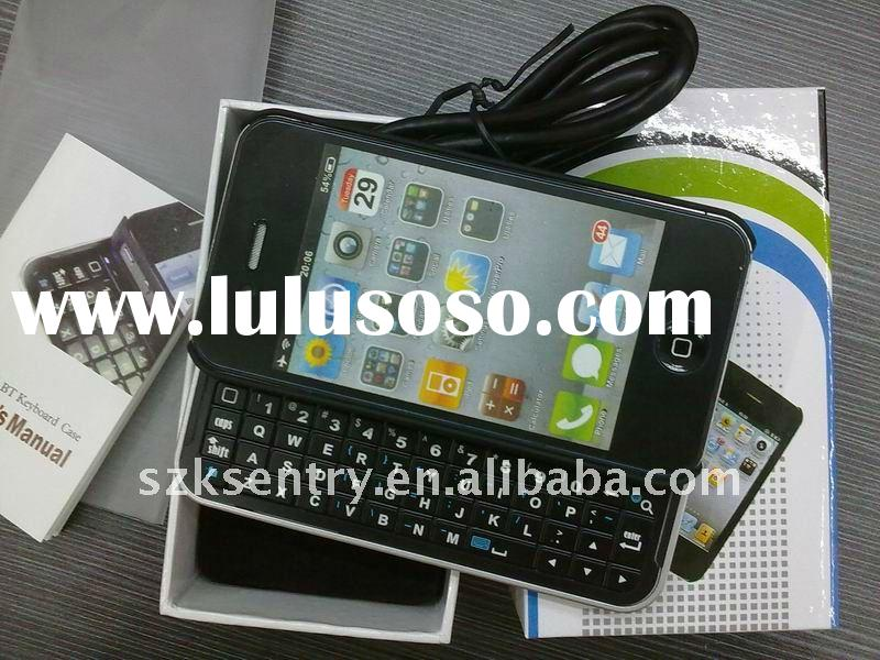 for iPhone 4 Wireless Bluetooth keyboard with case, sliding cover keyboard for iPhone 4