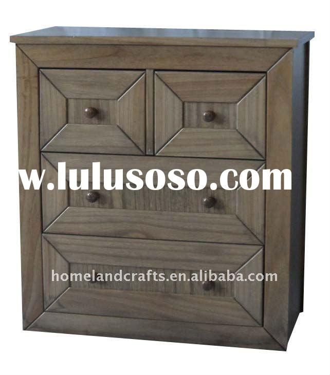 paulownia wardrobe cabinet with drawers