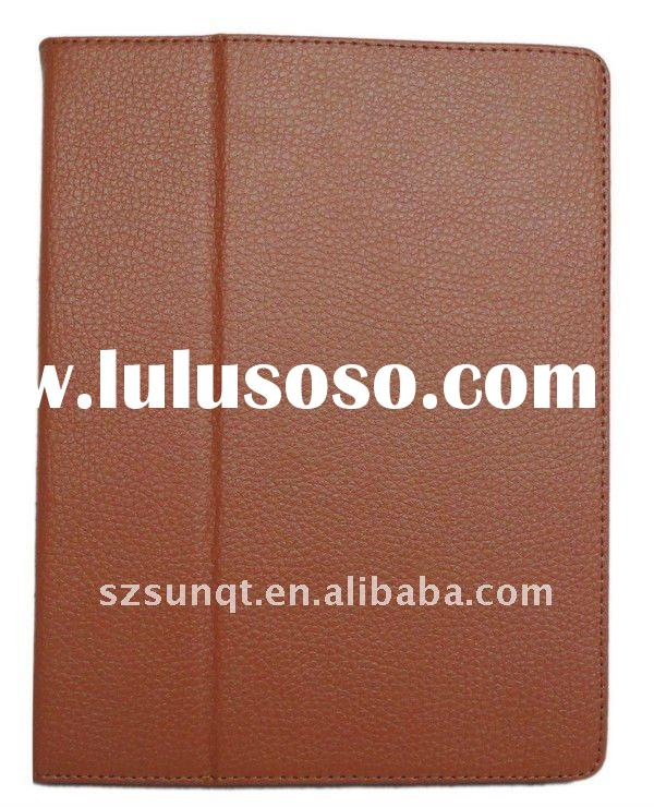 Brown Lychee Grain Regular Leather Case Cover  for iPad2