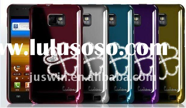 NEW!!!  Electroplating Hard case for for Samsung Glaxy S2 i9100 with 3D Rhinestone Crystal Bling