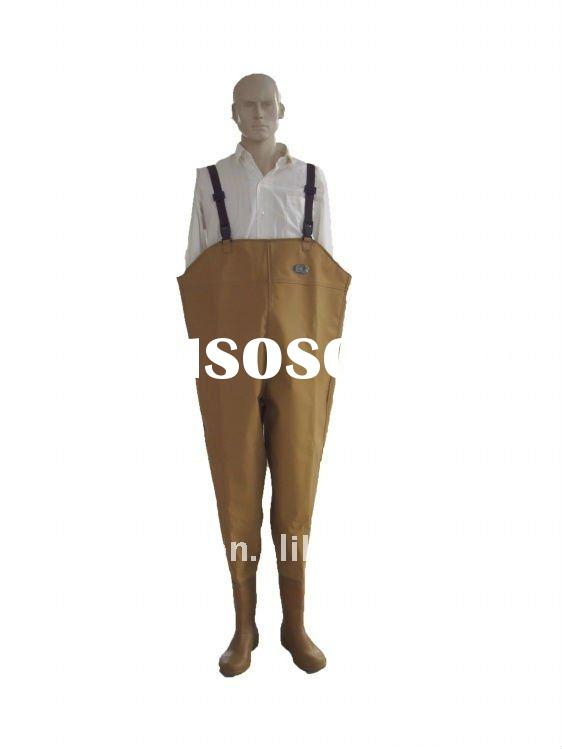 cheap waterproof pvc chest waders with good scrape resistance