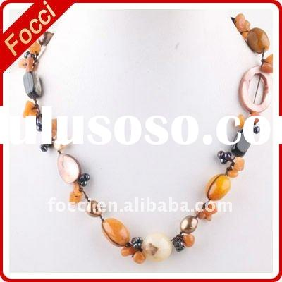 2011 new design fashion freshwater pearl necklace jewelry
