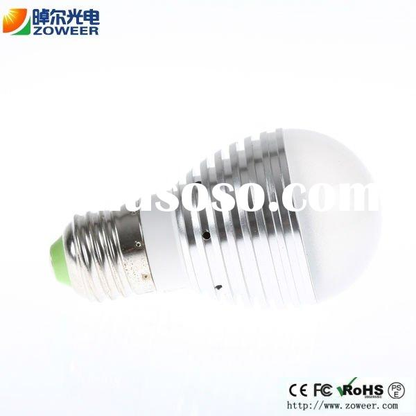 220V Warm white High Power E27 3W LED bulb