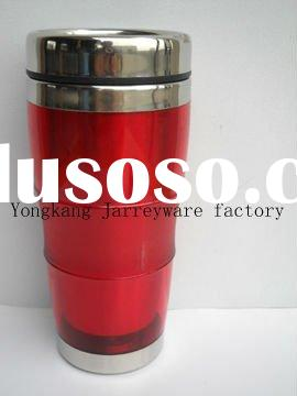 Double wall travel mug with Stainless steel bottom