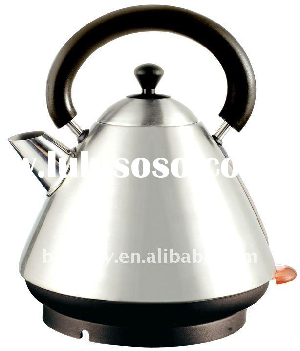 Stainless Steel Electrical Cordless Pyramid Kettle
