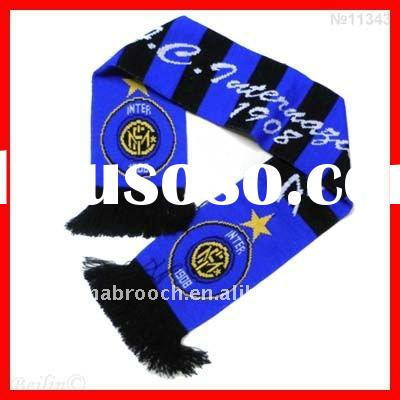 inter milan football club weaving scarf pattern