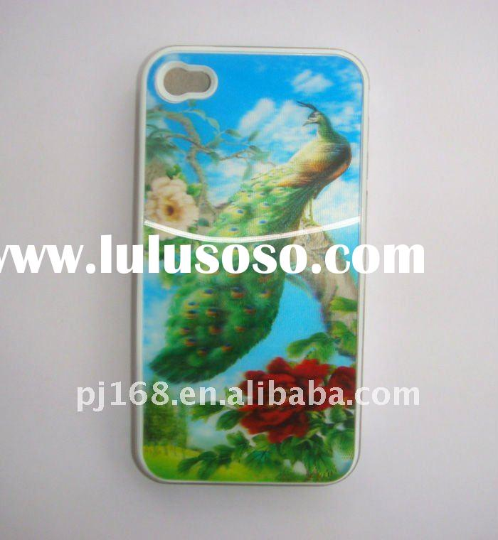 manufacturer selling 3d 4d  photo cell  phone covers for i-phone 4G/4GS  HOT SELL!