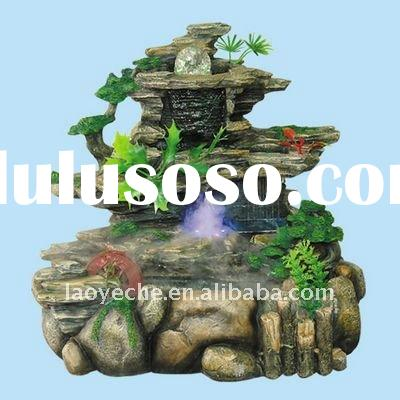 1327 resin rockery water fountain,indoor fountain,home decoration fountain