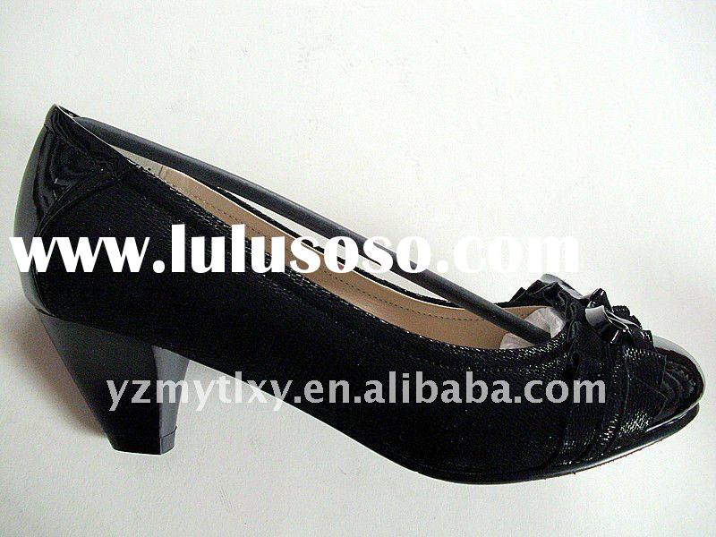 2012 new lady spring genuine leather casual shoes