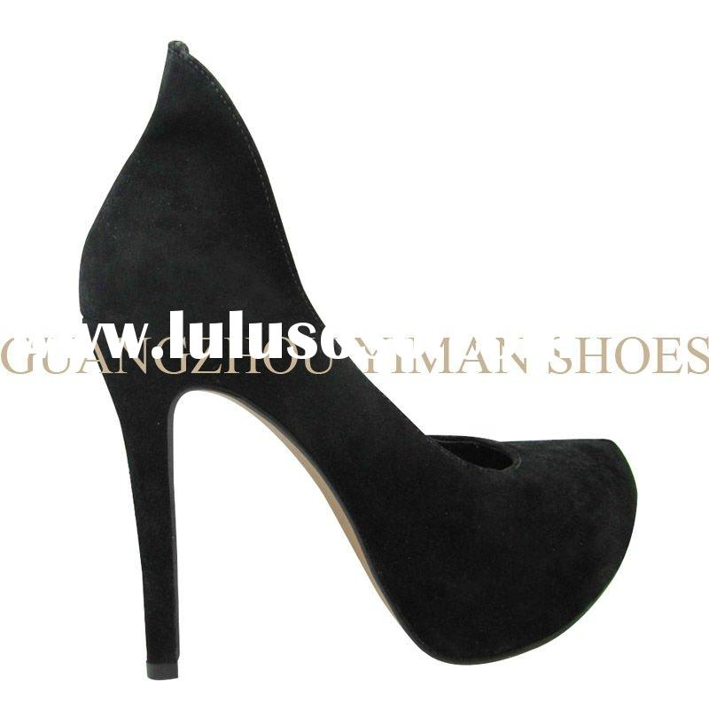 2012 platform high heel leather shoe