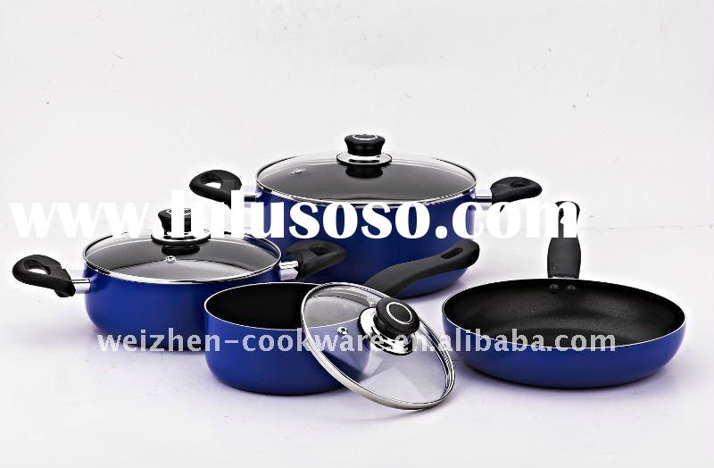 7PCS Aluminum nonstick cookware set