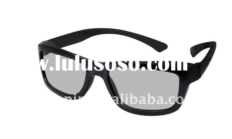 Durable quality and standared black plastic polarizing 3d movie glasses