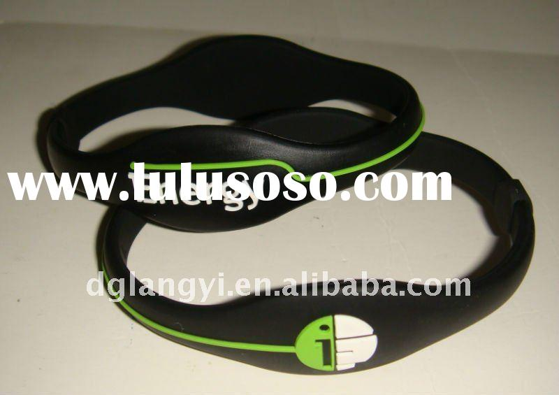 Funny Silicone Energy Bracelet with Hologram Sticker
